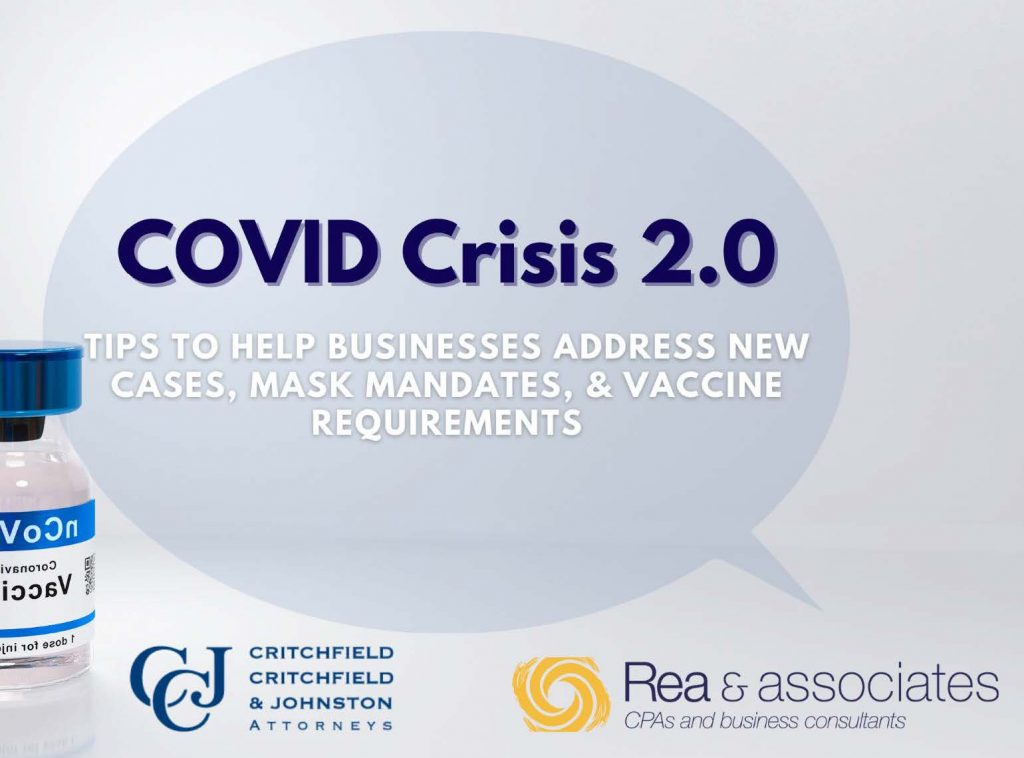 COVID Crisis 2.0   Tips To Help Businesses Address New Cases, Mask Mandates, & Vaccine Requirements   Slide Deck Presentation   Ohio CPA Firm