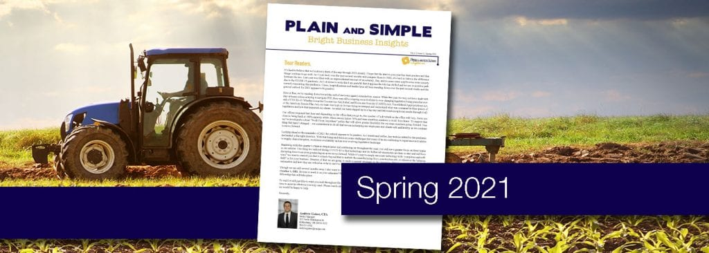 Read the Spring 2021 edition of Plain & Simple for business advice from Rea & Associates professional staff - Ohio CPA Firm
